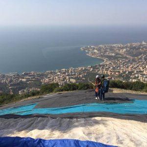 paragliding in lebanon