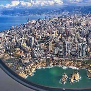 Airplane tour in Lebanon